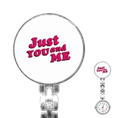 Just You and Me Typographic Statement Design Stainless Steel Nurses Watch