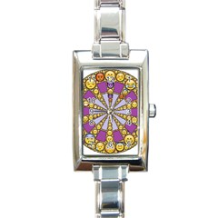 Circle Of Emotions Rectangular Italian Charm Watch