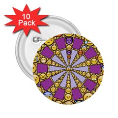Circle Of Emotions 2 25  Button (10 Pack)