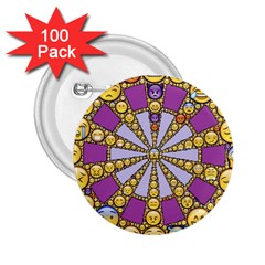 Circle Of Emotions 2 25  Button (100 Pack)