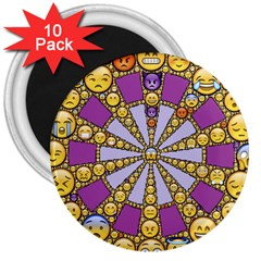 Circle Of Emotions 3  Button Magnet (10 pack)