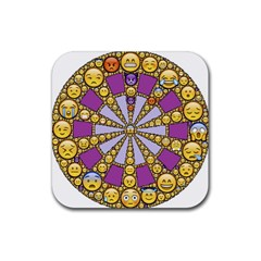 Circle Of Emotions Drink Coaster (square)