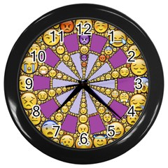 Circle Of Emotions Wall Clock (black)