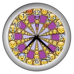 Circle Of Emotions Wall Clock (Silver)