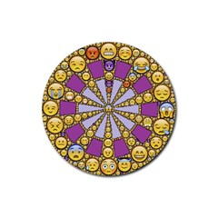 Circle Of Emotions Drink Coaster (round)