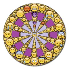 Circle Of Emotions Magnet 5  (round)