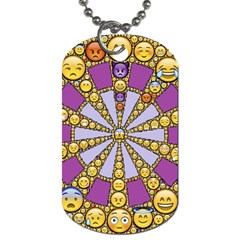 Circle Of Emotions Dog Tag (One Sided)