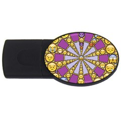 Circle Of Emotions 2gb Usb Flash Drive (oval)
