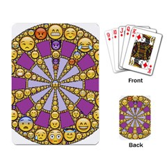Circle Of Emotions Playing Cards Single Design