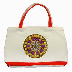 Circle Of Emotions Classic Tote Bag (Red)