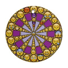 Circle Of Emotions Round Ornament (two Sides)