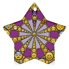 Circle Of Emotions Star Ornament (two Sides)