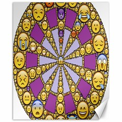 Circle Of Emotions Canvas 16  X 20  (unframed)