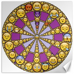 Circle Of Emotions Canvas 20  x 20  (Unframed)