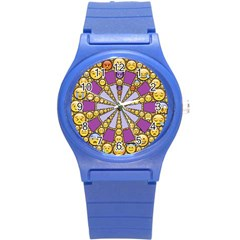 Circle Of Emotions Plastic Sport Watch (small)