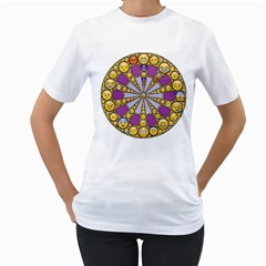 Circle Of Emotions Women s T-Shirt (White)