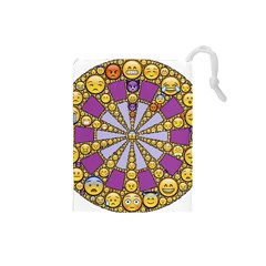 Circle Of Emotions Drawstring Pouch (small)