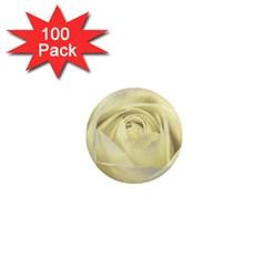 Cream Rose 1  Mini Button Magnet (100 pack)
