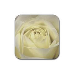 Cream Rose Drink Coaster (Square)