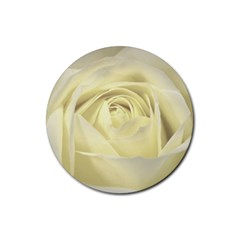Cream Rose Drink Coaster (round)