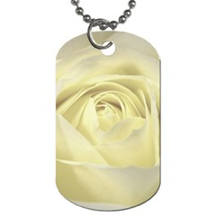 Cream Rose Dog Tag (One Sided)