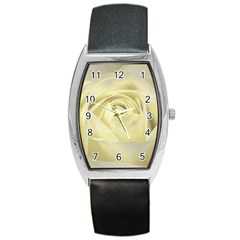 Cream Rose Tonneau Leather Watch