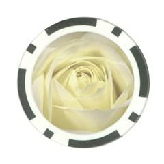 Cream Rose Poker Chip