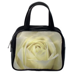 Cream Rose Classic Handbag (one Side)