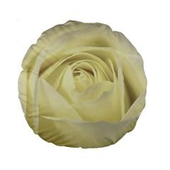 Cream Rose 15  Premium Round Cushion
