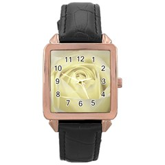 Cream Rose Rose Gold Leather Watch