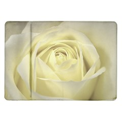 Cream Rose Samsung Galaxy Tab 10.1  P7500 Flip Case