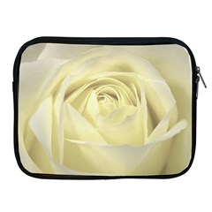 Cream Rose Apple iPad Zippered Sleeve