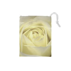 Cream Rose Drawstring Pouch (Small)