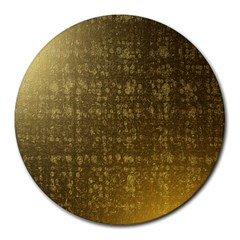 Gold 8  Mouse Pad (round)
