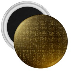 Gold 3  Button Magnet