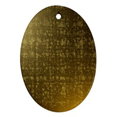 Gold Oval Ornament
