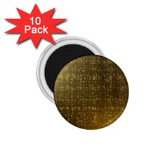 Gold 1 75  Button Magnet (10 Pack)