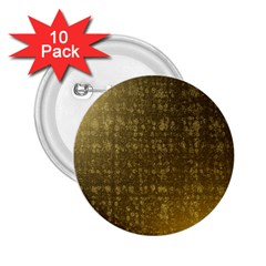 Gold 2.25  Button (10 pack)