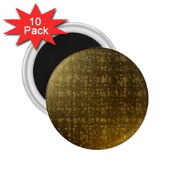 Gold 2 25  Button Magnet (10 Pack)