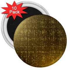 Gold 3  Button Magnet (10 pack)