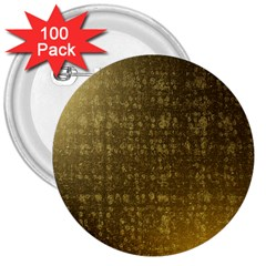 Gold 3  Button (100 Pack)