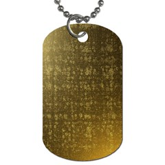 Gold Dog Tag (one Sided)