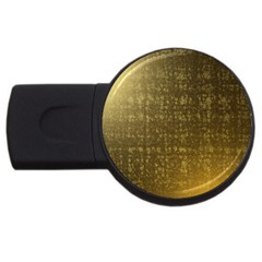 Gold 2gb Usb Flash Drive (round)