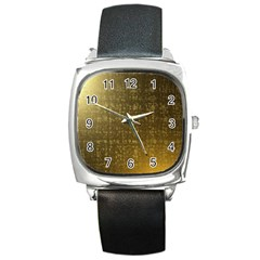 Gold Square Leather Watch