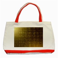 Gold Classic Tote Bag (Red)
