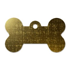 Gold Dog Tag Bone (One Sided)