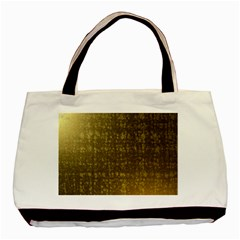Gold Twin-sided Black Tote Bag