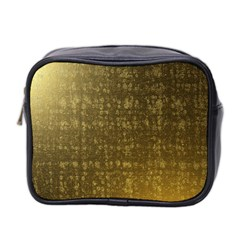 Gold Mini Travel Toiletry Bag (two Sides)