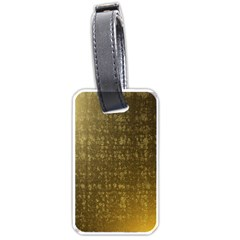Gold Luggage Tag (Two Sides)