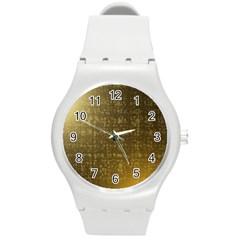 Gold Plastic Sport Watch (medium)